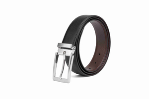 The black real leather cheap belts for men LA1006