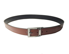 AF-151 Mens brown leather formal belt