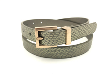 AF-102 Womens dress belt with gold buckle