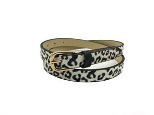 AF-094 Womens fashion belt with gold buckle