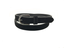 AF-081 Womens black suede belt with buckle