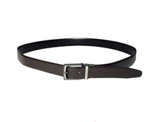 AF-175 Mens brown leather formal belt with buckle