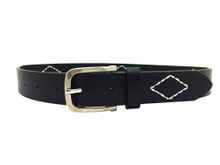 AF-073 Boys Child Black PU Easy Belt with Single Pin Buckle