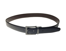 AF-148 Mens black leather dress belt