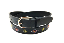 Casual embroidery lady belt with golden buckle AFL71054