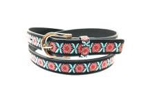Here you can buy black leather belt with golden buckle AFL71055