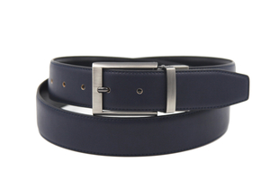 AFM7002 MENS BLACK DESIGNER LEATHER BELT