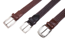 AF-234 Mens brown leather braided belts