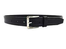AF-056 Boys brown burgundy PU fashion belt with gold buckle