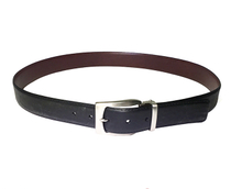 AF-164 Mens black formal belt with buckle